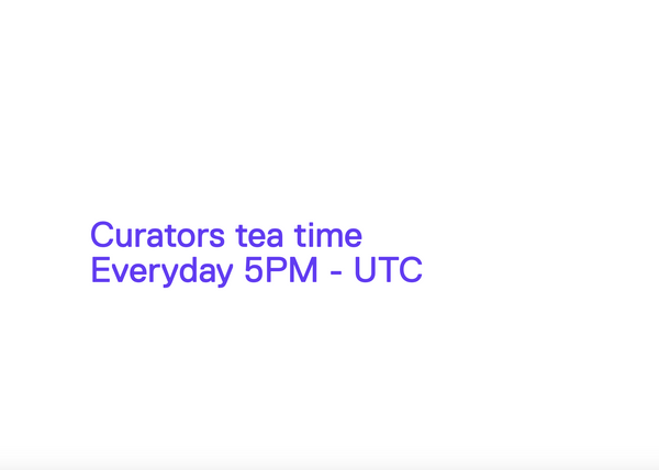 Online Tea Time for Curators