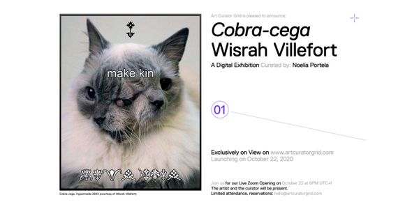 "Curator Noelia Portela and artist Wisrah Villefort discovered together our brand new online exhibition tool - and the outcome is ""Cobra-Cega"""